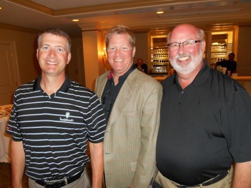 Ray Volpatt, Bill Engel & Dollar Bank's Joe Smith having fun at the MBA golf outing.