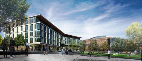 Clayco's rendering of the new USSteel headquarters.