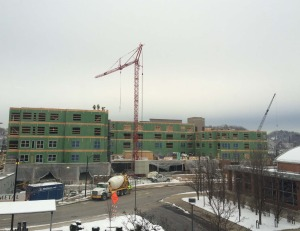 Construction continues at Oxford's Hot Metal Flats. Photo by Cody Phillips