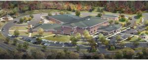 Rendering by McLean Architects of the new Watson Institute school in South Fayette.
