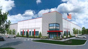 Rendering by Neyer Inc. of the first building  at Clinton Commerce Park Phase II.