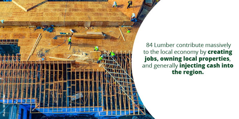 Impact of 84 Lumber on Local Commercial Real Estate